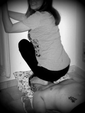 Yo, haciendo trampling.