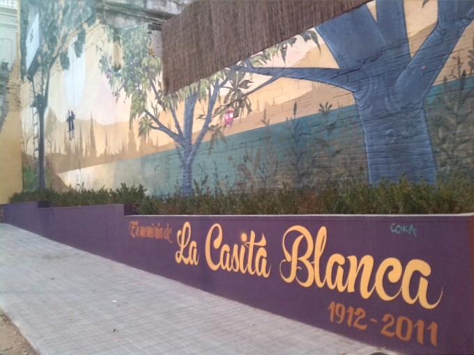 Mural en memoria de la Casita Blanca