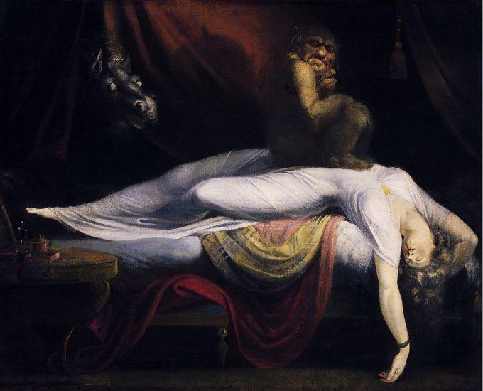 """""""La pesadilla o el íncubo"""" (1781), cuadro de Johann Heinrich Füssli"""