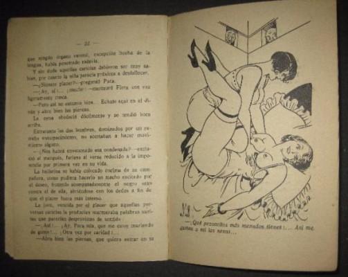 """Los libros se completaban con ilustraciones eróticas (interior de """"La Flor de Florita"""")"""